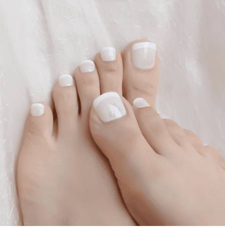 Pose faux ongle gros orteil