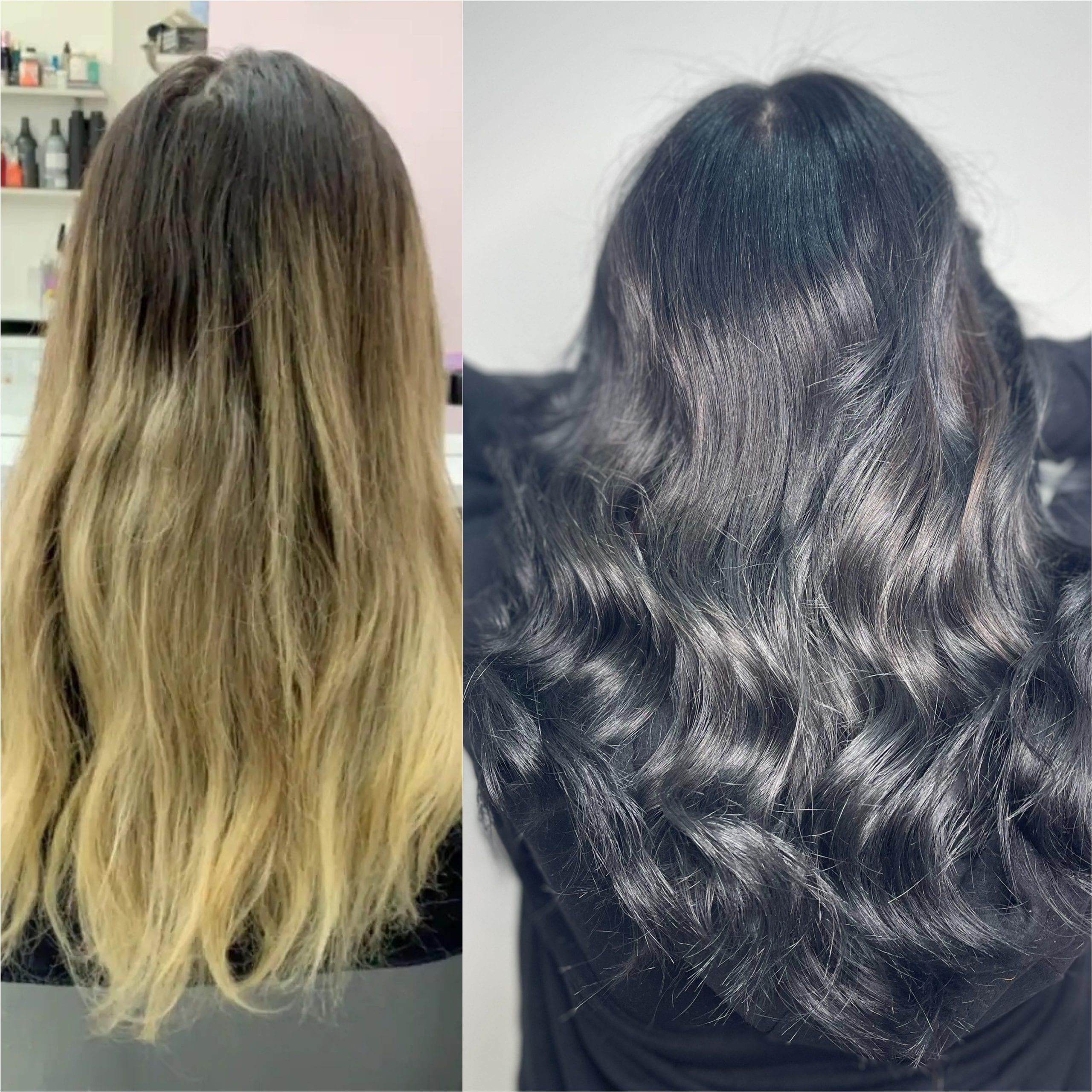 Coloration : Avant / Après